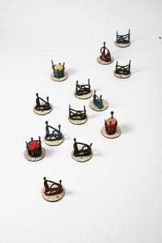 도자기촛대·꽂이 작품명=연인 백자토·색유·1250도산화소성.
