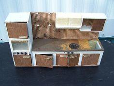 Vintage 1960's Toy Tin Litho Kitchen Appliance Set by Fuch w Germany