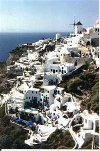 5th stop. Santorini, Greece.  Heard the roads are rough.  You can rent dune buggies!