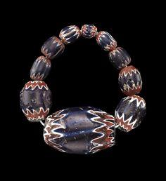 Chevron #Beads | Corning Museum of #Glass #cmogbeads