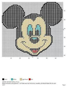 MICKEY MOUSE FACE by TRICIA - WALL HANGING