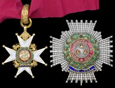 Order of the Bath, K.C.B. (Military) Knight Commander's set of insignia neck badge and breast star, hallmarks for London 1862, by R. & S. Garrard.