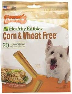 Nylabone Corn Free/Wheat Free Heart with Real Chicken, 20 Count Pouch - List price: $15.23 Price: $7.99 Saving: $7.24 (48%)