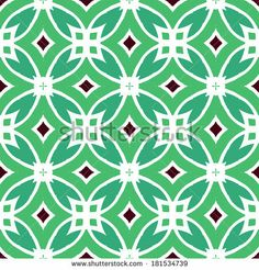 Vector multicolor ethnic pattern with Indian, Arabic and Turkish motifs. - stock vector