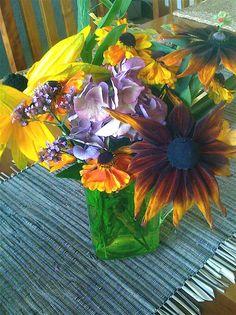 An autumn backyard bouquet