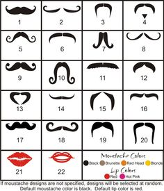 Moustache and Lips Decals on Etsy// No we can make our own mugs with these decals!