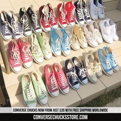 Chucks from $35 with free worldwide shipping. Order now on our website. #chucks #chucktaylor #chucktaylors #converse #converse