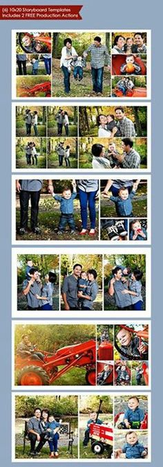 FREE Photoshop Family Storyboard template by meskos Family Photo - photography storyboard template