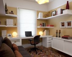 home office with futon