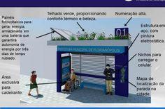 Florianópolis terá parada de ônibus sustentável