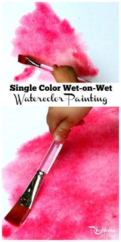 Single color wet-on-wet watercolor painting is a wonderful way for young children to learn about and experience color. It is a process art technique used and taught in Waldorf education in schools and homes all over the world. When finished your beautiful creations can be made into cards and other crafts.