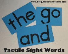 Make your own tactile letters and sight words.  No sandpaper needed!!  Free letter templates and step-by-step directions.