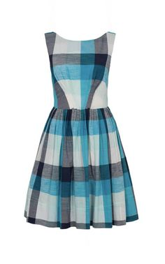 Emily and Fin - Abigail Navy and Blue Plaid Dress  #alittleshopnz
