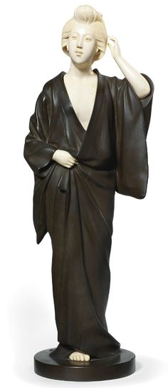A Large Bronze and Ivory Okimono (Meiji Period (late 19th-early 20th century)) 53,6 cm high