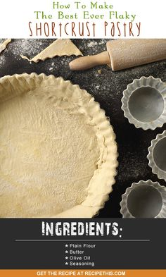 Welcome to how to make the best ever shortcrust pastry recipe. Do you ever have a recipe that has been inspired from others? Well I know I certainly do otherwise how do you learn to cook? Pie Crust Recipes, Pastry Recipes, Dessert Recipes, Cooking Recipes, Desserts, Pie Crusts, Family Meals, Frugal Family, Easy Recipes For Beginners
