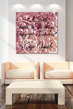 Classy & Fabulous Canvas Wall Art by The Ultravelvet Collection on @HauteLook