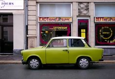 An old colorful Trabant parked on the street. Germany 2009.  (Photo by Ari Salmela. All Rights Reserved: http://500px.com/photo/4378595. Website: http://ari-salmela.artistwebsites.com).