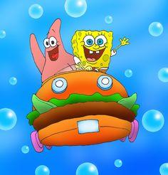 SpongeBob and Patrick by kilroyart on DeviantArt Cartoon Wallpaper Iphone, Cute Disney Wallpaper, Patrick Drawing, Spongebob Best Friend, Mini Canvas Art, Cute Wallpapers, Besties, Animation, Drawings