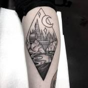 Minimalist harry potter tattoos that are pure magic 18