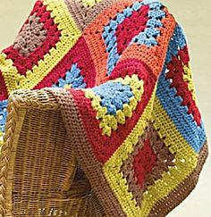 Boomer Granny Throw - free crochet pattern from Lion Brand website