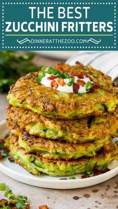 These zucchini fritters are crispy patties filled with shredded squash and flavored with garlic and herbs. An easy and delicious side dish that takes just minutes to put together, and always gets rave reviews.