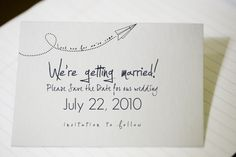Free Printable Air Mail Envelope and Save-the-Date Card