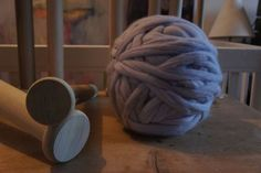 Made In England Giant Wooden Knitting Needles upto 60mm by eXtreme knitting UK