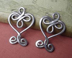 Very Big Celtic Hearts and Swirls Earrings  by nicholasandfelice, $18.00