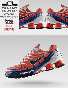 Custom Denver Broncos Nike Turbo Shox Team Shoes – JNL Apparel