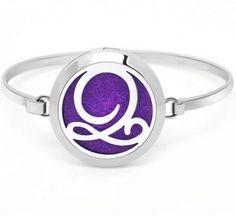 Monogram Floating Locket Bangle Bracelet Aromatherapy Diffuser