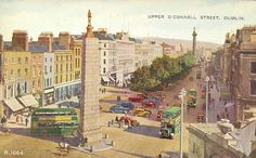 Upper O'Connell Street, Dublin, Ireland – Photography Tags, Ireland Homes, Photo Engraving, Free State, Republic Of Ireland, Dublin Ireland, Great Pictures, Northern Ireland, Vintage Postcards