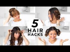 5 EASY HAIR HACKS YOU SHOULD KNOW | Luxy Hair - YouTube my favorite is the Easy curls and the Quick bun.