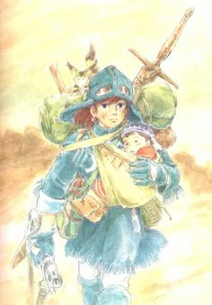 "Generation GHIBLI: watercolor illustrations of ""Nausicaä of the Valley of the Wind '"