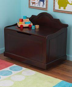 Another great find on #zulily! KidKraft Espresso Raleigh Toy Box by KidKraft #zulilyfinds