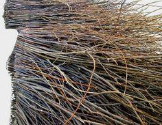 """nice....side view  Locally reclaimed willow branches and wire.  Stillness by Olga Ziemska, 69"""" x 155""""  www.olgaziemska.com"""
