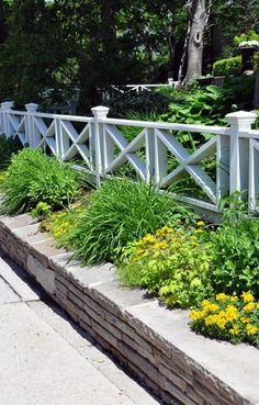 41 Gorgeous Front Fence Design Ideas For Your Front Yard Decor - New homes are always gorgeous, but sometimes the yards seem a little empty and unfinished. One way to enhance curb appeal and add character to any new. Backyard Fences, Garden Fencing, Fenced In Yard, Front Yard Landscaping, Landscaping Ideas, Garden Bed, Acreage Landscaping, Landscaping Contractors, Front Yard Decor