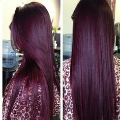 Deep plum, burgundy hair color plum hair 15 Awesome Hair Colors You Want To Try This Year Pelo Color Vino, Pelo Color Borgoña, Color Red, Plum Colour, Eye Color, Hair Color And Cut, Cool Hair Color, Deep Burgundy Hair Color, Red Burgundy