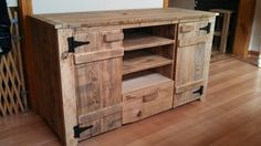 Barn wood entertainment center