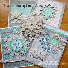 Festive Flurry Card Class, Stampin' Up!