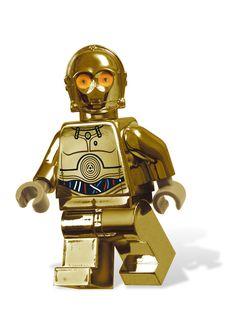 Fantasy Lego Chrome Gold C-3PO By Chris McVeigh.