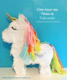 Cómo Hacer Una Piñata de Unicornio Diy Unicorn Party, Unicorn Pinata, Unicorn Birthday Parties, 7th Birthday, Girl Birthday Decorations, Rainbow Parties, My Little Pony Party, Rainbow Birthday, Diy Party