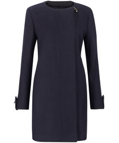 Navy Collarless Coat, A.P.C by Liberty London