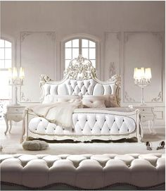Antique French Furniture White Bedroom Set For more pictures and design ideas, please visit my blog http://pesonashop.com