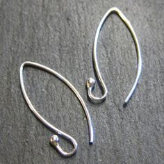 650e9d88c Smaller curved handmade artisan silver ear wires - make your earrings even  more special ;-