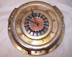 Car Fans, Must See One of a Kind Clutch Plate Wall Clock