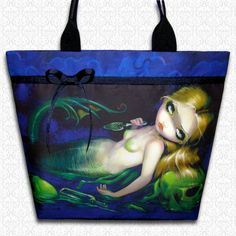 Absinthe Mermaid Jasmine Becket Griffith tote bag by HautTotes, $59.75