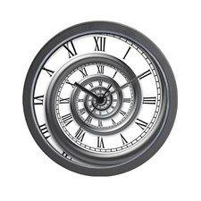 roman spiral Large Wall Clock by Vicevoices - CafePress Clock Face Tattoo, Clock Tattoo Design, Wall Clock Design, Watch Tattoos, Time Tattoos, Tatoos, Bussola Tattoo, Pocket Watch Drawing, Caveira Mexicana Tattoo