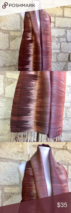 Beautiful Imported Silk Scarf Beautiful imported silk scarf sheen iKat design hand made in India. Perfect condition. I am a top-rated seller and fast shipper 🎉🎉 Accessories Scarves & Wraps