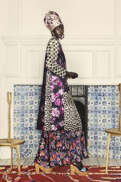 Duro Olowu Fall 2019 Ready-to-Wear Fashion Show - Vogue Vogue Paris, Fashion Brand, Fashion Show, High Fashion, Women's Fashion, Mood Designer Fabrics, Duro Olowu, Cool Coats, Celebrity Look