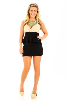 The Natalie Dress: Black/Tan